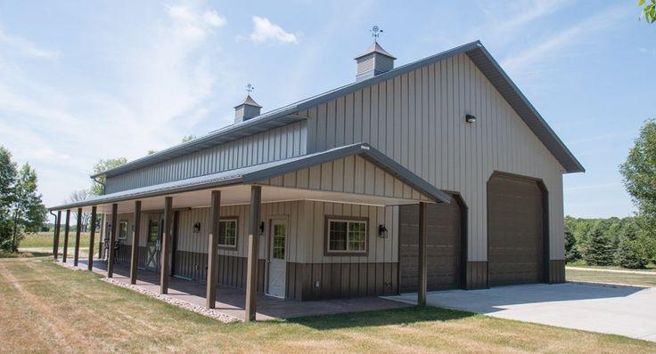 Morton Buildings hobby garage in Mequon, Wisconsin.