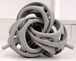 3D printed. Bathsheba Sculpture - metal 3D printing. I'm more like publishing than gallery-based art marketing. With the advent of 3D printing, this is the first moment in art history when sculpture can be, in this sense, published.  I think it's the wave of the future.