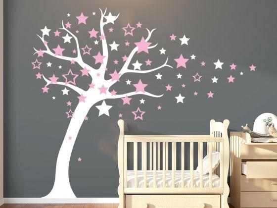 Simple Wandtattoo Sternenbaum