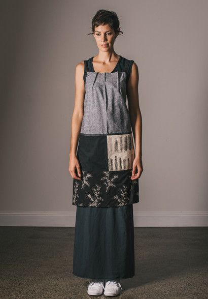 Polly apron #3 Bestowed , organic cotton label made ethically in Australia. 100% Vegan friendly