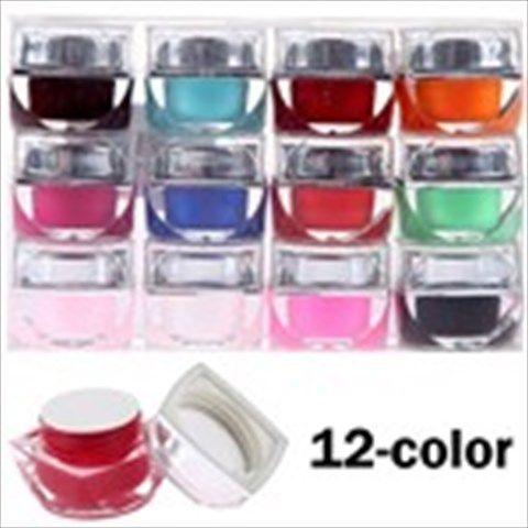 12-color Professional Nail Beauty Nail Art Nail UV Gel Nail Cosmetic Item for Lady Women