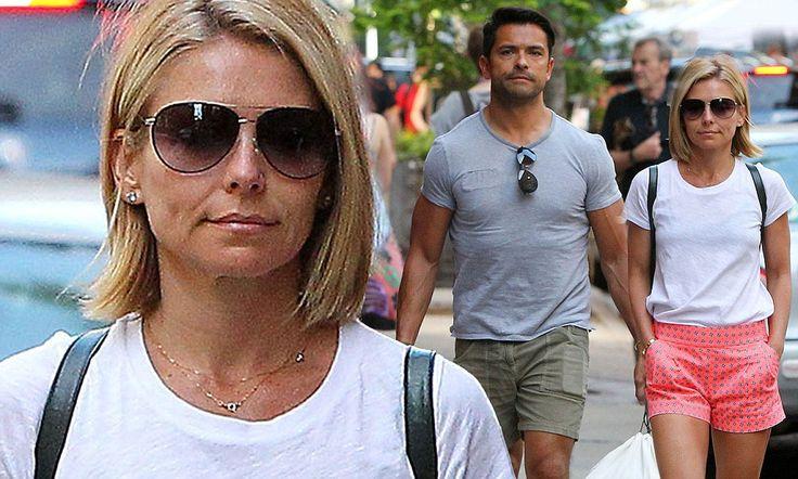 Kelly Ripa's husband Mark carries bags in New York