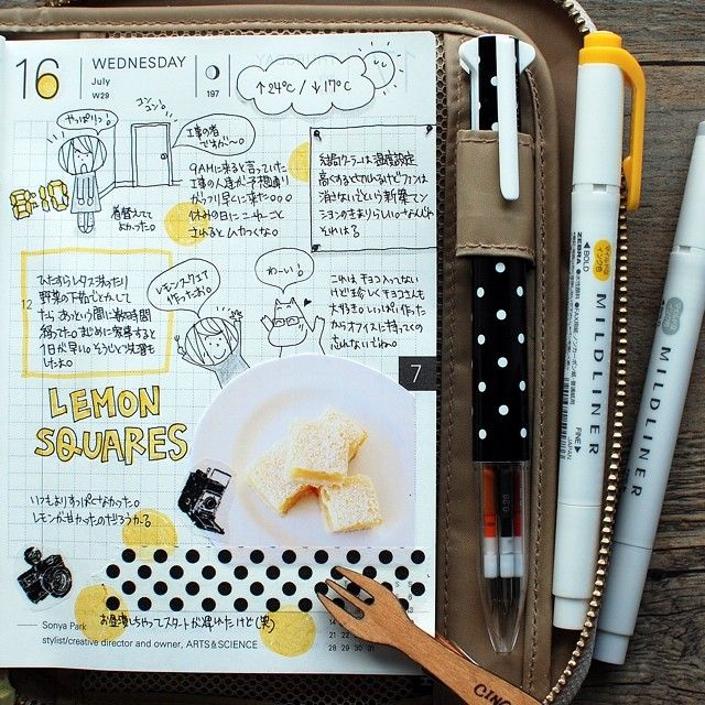 Planner / Hobonichi Love. If you like this planner setup you should check out this post: http://www.designisyay.com/kikki-k-personal-planner-setup/ #イラスト #ほぼ日手帳