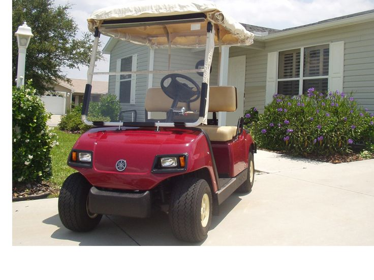 Rental home in The Villages Florida with a golf cart