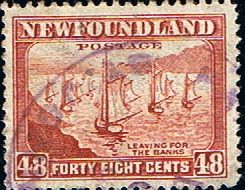 Newfoundland 1941 SG 289 Ships Leaving For the Bank Fine Used Scott 266 Other North American and British Commonwealth Stamps HERE!