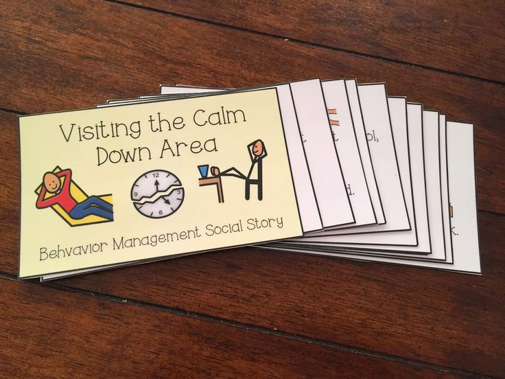 Calm Down Kit- behavioral and visual supports for students with special needs and autism. Calm Down Corner, Calm Down Area, Sensory Break. Social Story for behavior
