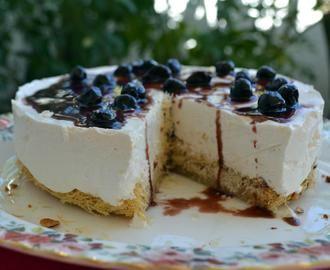 Τούρτα κανταΐφι με παγωτό γιαούρτι-μαστίχα και βύσσινο