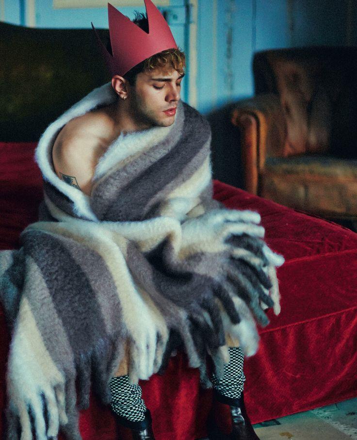 Xavier Dolan, photographed by Shayne Laverdière for L'Uomo Vogue, Dec 2014. R