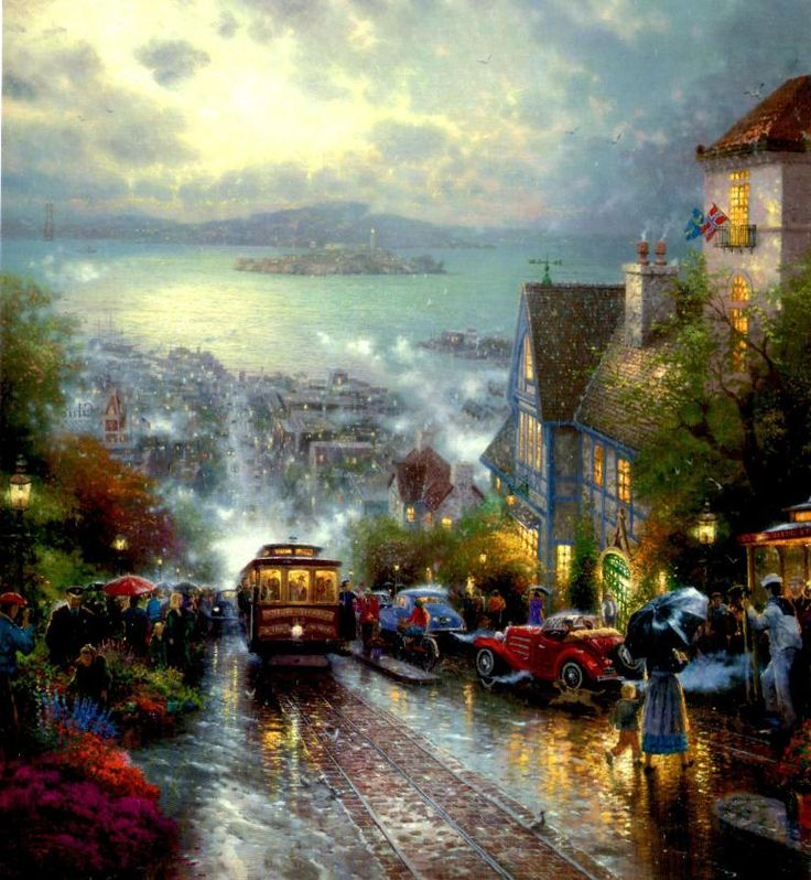 Thomas Kinkade Hyde Street and the Bay San Francisco
