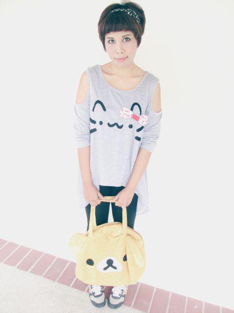 DIY Fashion: Kawaii Pusheen Cat/Neko T-Shirt Tutorial | Hapy Friends Shoppe