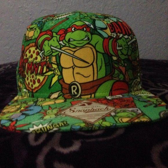 Flat bill hat Super cute Ninja Turtle hat! Worn once!! Accessories Hats