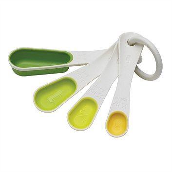 Briscoes Chef N Sleekstor Measuring Spoons Green New