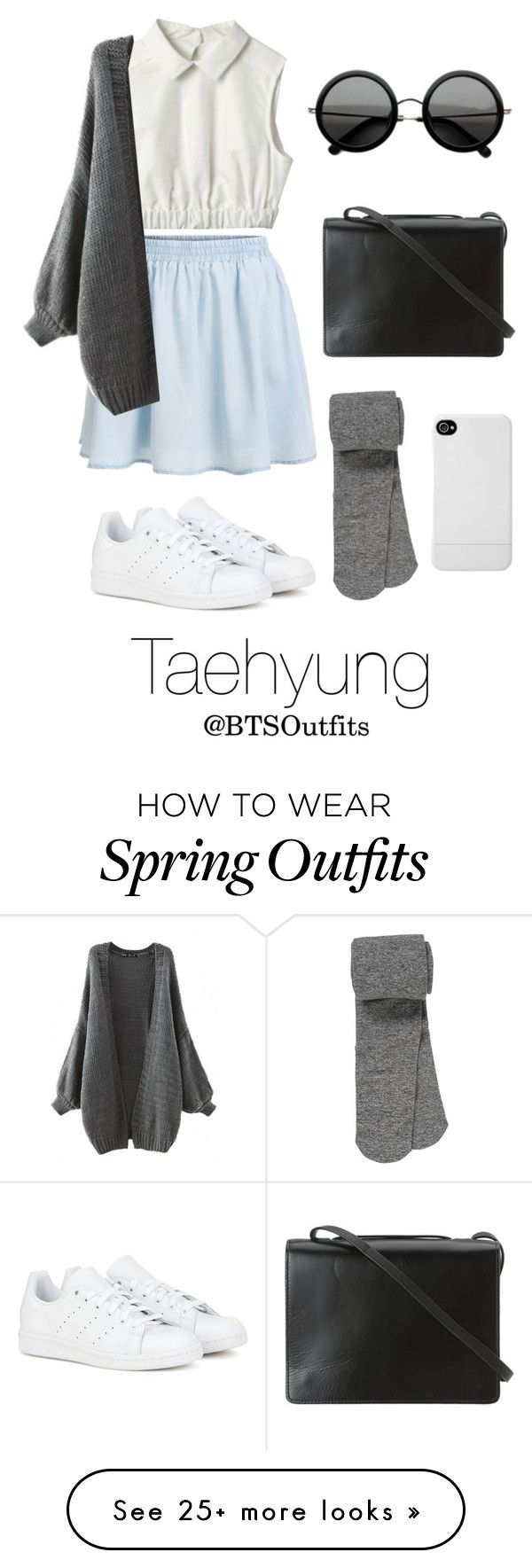 """""""Spring Outfit Inspired by Taehyung"""" by btsoutfits on Polyvore featuring moda, BCBGMAXAZRIA, The Row, adidas, maurices, Incase, women's clothing, women, female e woman"""