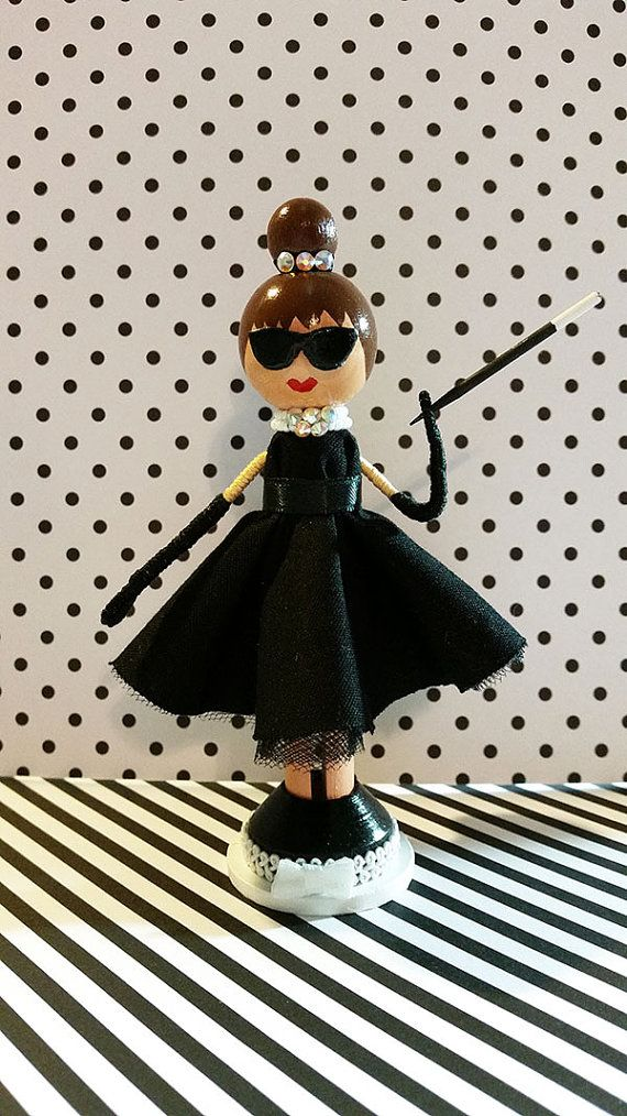 Audrey Hepburn/Breakfast at Tiffany's by MountStCraftMess on Etsy