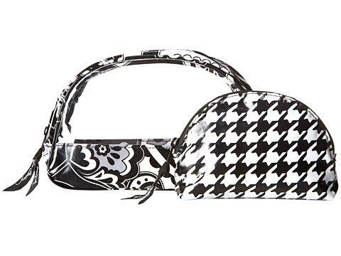 Вера Брэдли косметический багажа ясно дуэт полуночи Пейсли - Zappos.com Бесплатная доставка в обоих направлениях