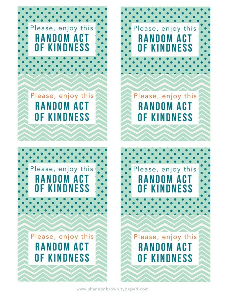 Persnickety image throughout random acts of kindness cards printable