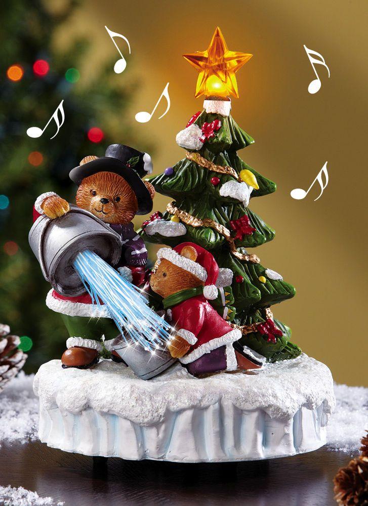 fiber optic musical christmas tree light plays joy to the world battery operated - Musical Christmas Tree Lights