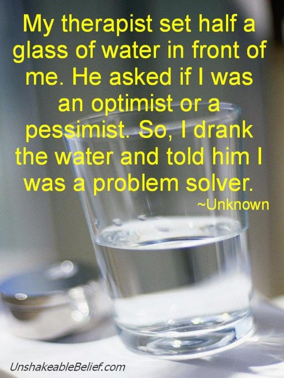 """Funny pics """"my therapist sat a half a glass of water in"""