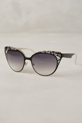 Jimmy Choo Estelle Sunglasses Black One Size Eyewear  anthrofave ... 6c3b2c7e333a