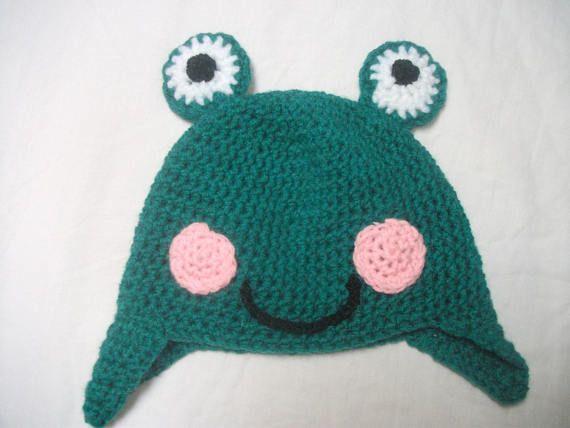 Bonnet grenouille pour fille ou garçon taille 3/4 ans en