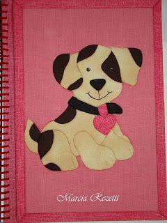 Márcia Rezetti: Cadernos de patchwork embutido