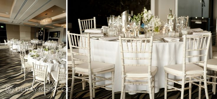 White Tiffany Chairs at the Breakwater hotel, Hillarys Boat Harbour, Perth. Photography by DeRay & Simcoe