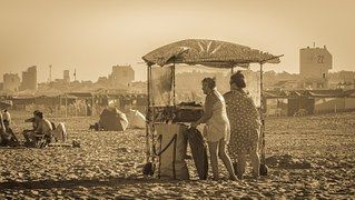 Dames, Selling, Strand, Zand, Landschap