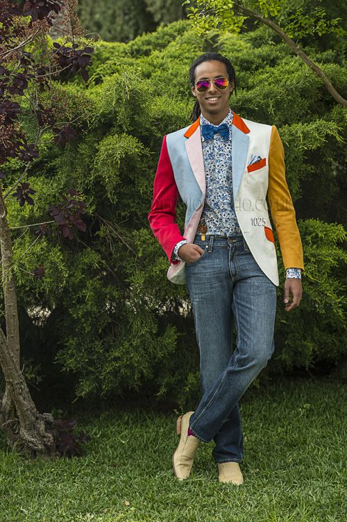 Wonderful Patchwork ONGala suit made for the flamboyant man.