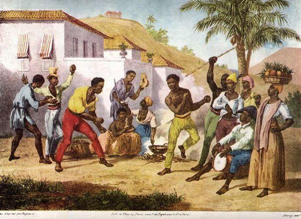 La Capoeira es una manifestación cultural formada por baile, lucha, música, expresión... Nació en África, en Angola, Congo y Guinea y fue llevada a Brasil por los esclavos negros.