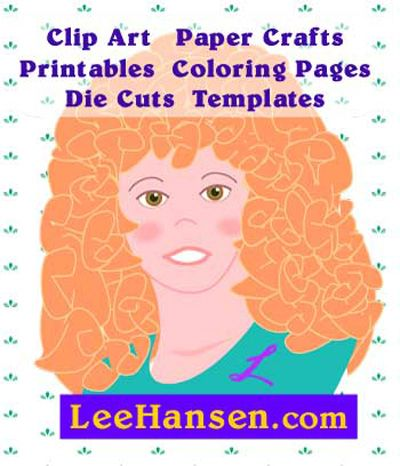 Lee Hansen, artist and graphic designer, publishes original clip art  for non-commercial use at LeeHansen.com.