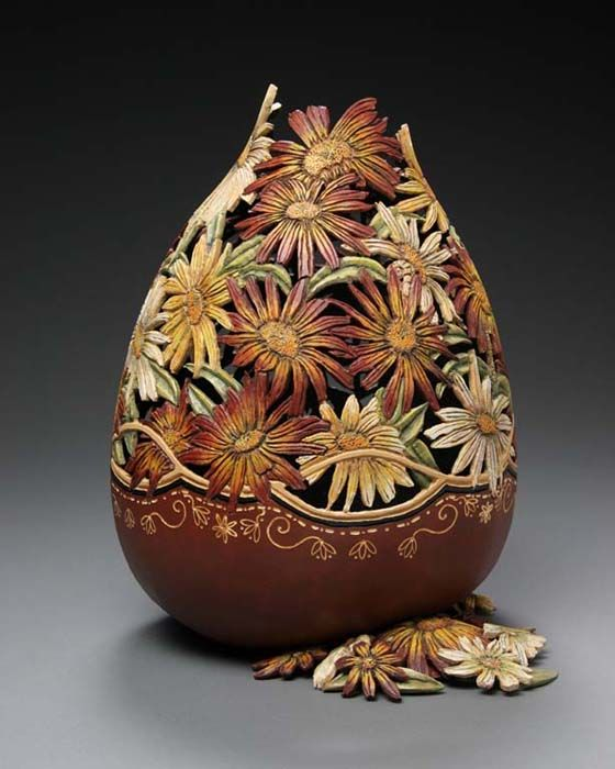 gourd carving by marilyn sunderland