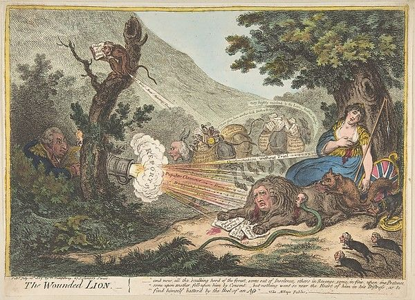 James Gillray | The Wounded Lion | The Met