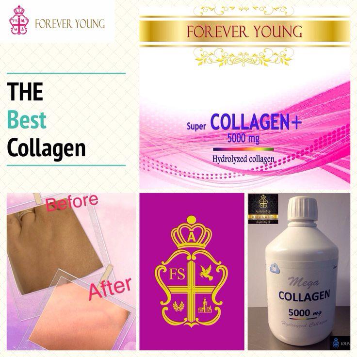 "Super COLLAGEN+ 5000 mg. Hydrolyzed collagen     เราสามารถช่วยชะลอความเสื่อมของผิวพรรณ และ รักษาผิวไว้ให้ดูดีให้นานที่สุด    โดย Super COLLAGEN+ 5000 mg. ของ Forever Young เป็น ""ไฮโดรไลซ์ คอลลาเจน ( Hydrolyzed Collagen ) ซึ่งเป็นคอลลาเจนที่สกัดจากปลาทะเลน้ำลึก เป็นคอลลาเจนที่ดีที่สุดสำหรับผิว ซึ่งเราสกัดออกมาในรูปแบบของน้ำ ซึ่งทำให้ดูดซึมเข้าสู่เซลล์ผิวชั้นลึกของร่างกายได้เป็นอย่างดี ช่วยให้ผิวมีความยืดหยุ่น อุ้มน้ำ และผิวดูเต่งตึง ขาวใส อย่างเห็นได้ชัดภายในเวลาอันรวดเร็ว"