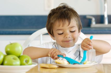"""Does your child look like this when eating? - blog by little people nutrition walking through a typical meal where mandy sticks to ellyn satter's """"division of responsibility"""""""