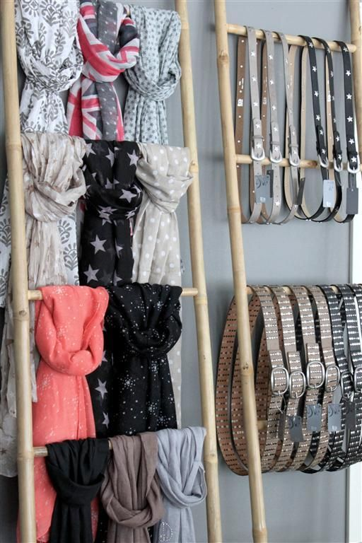 Organize Your Clothes 10 Creative And Effective Ways To Store And Hang Your Clothes: 25+ Unique Scarf Display Ideas On Pinterest