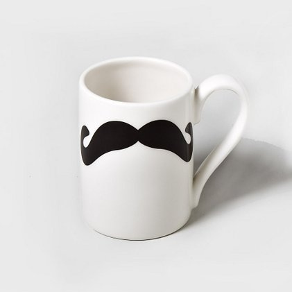 Get some silly sips (and some laughs!) with the Mustache Mug: Claire, Mustachesss 3, Mustache Mugs, Cat, Creative Ideas, Mustache Things, Awesome Ideas, Mustache Beards, Mustache 3