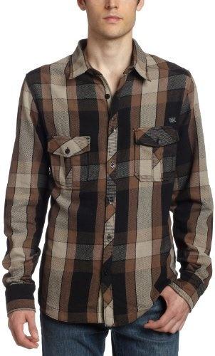 Fox Young Men's Shhliker Flannel Shirt Cocoa Medium | eBay