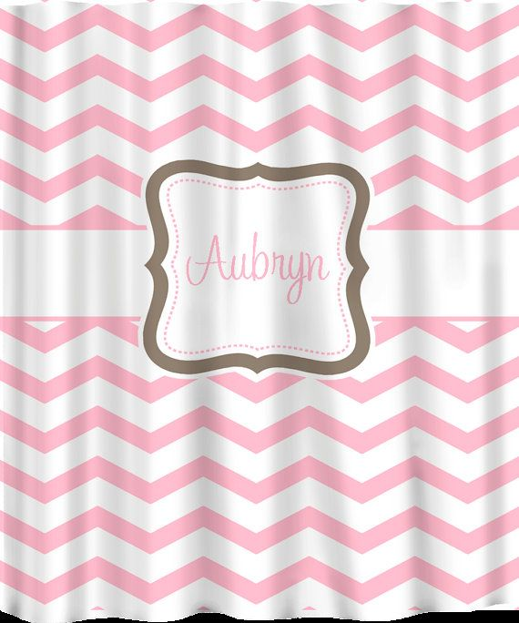 Custom Personalized Chevron Shower Curtain Any Color By