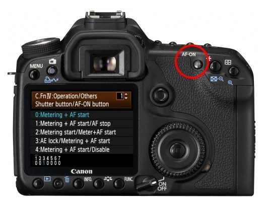 Canon DSLR cameras like the EOS 50D, 60D, 7D and 5D Mark II have an option to change the way auto focus is activated. This setting lets you customize the camera so that auto focusing is initiated b...