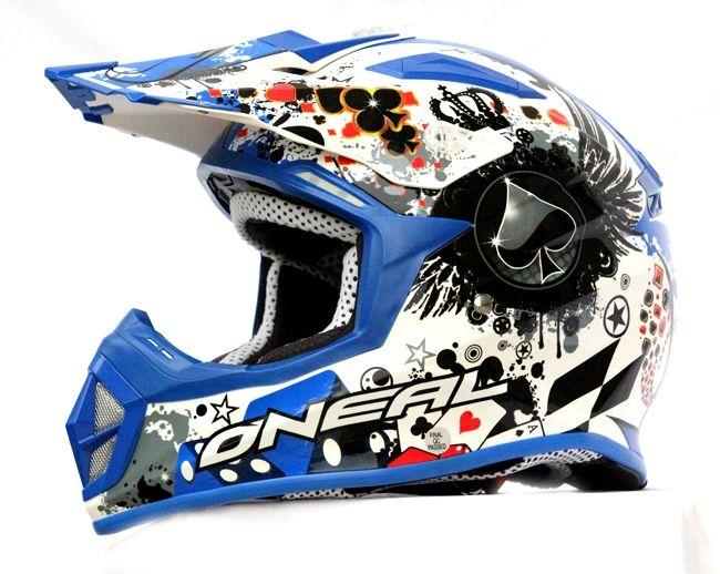 MASEI M+ ONEAL Blue 312 ATV MOTOCROSS MOTORCYCLE KTM DIRTBIKE HELMET