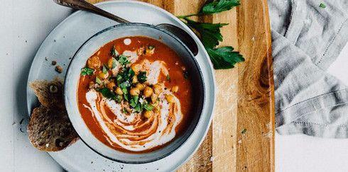 Как приготовить томатный суп-пюре из нута