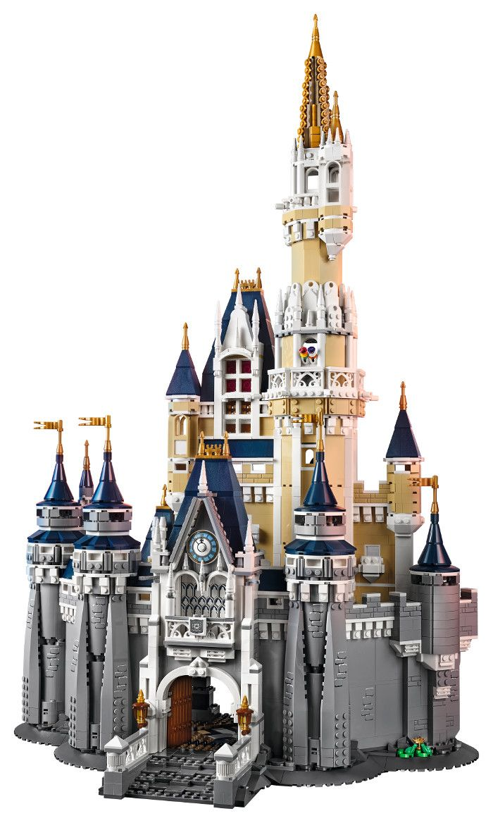 "Standing at over 29"" high and 17"" wide, the LEGO Cinderella Castle is a massive 4,000 piece replica of the iconic Cinderella Castle at Walt Disney World 