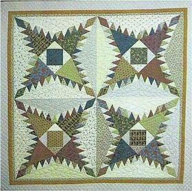 Flynn Quilt Frame Company Pine Burr Quilt Block