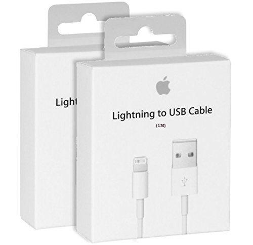 cool Cable iPhone a original Apple - cable lightning hacia USB Cargador de origen para iPhone 7/7 Más, 6/6 Plus / 6s / 6s más, iPhone 5 5c 5s, iPad Mini, iPad Aire, iPod a Touch, iPod (Blanco) (1m