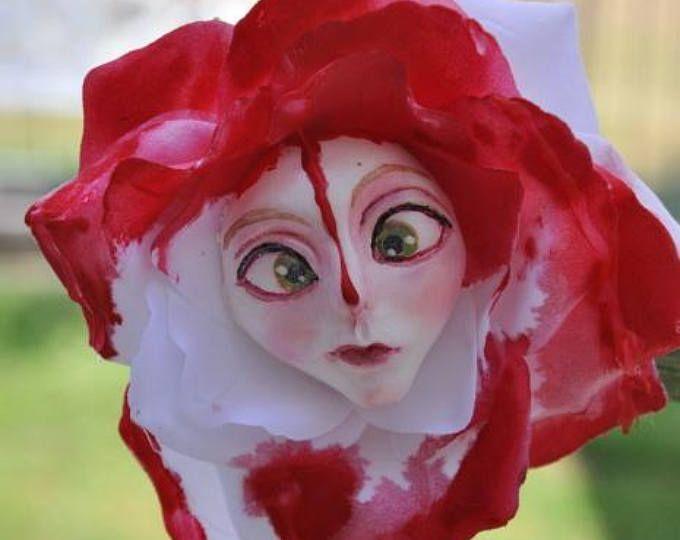 "ALICE IN WONDERLAND TALKING FLOWERS SPRING FEVER /""ROSY PETALS/"" SUTHERLAND"