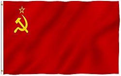 ANLEY [Fly Breeze] 3×5 Foot Soviet Union Flag – Vivid Color and UV Fade Resistant – Canvas Header and Double Stitched – Union of Soviet Socialist Republics National Flags with Brass Grommets