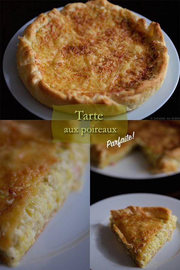 Voici ma recette de la tarte aux poireaux, composée d'une pâte feuilletée pur beurre recouverte de dés de jambon cru, d'une fondue de poireaux crémeuse et gratinée à l'emmenthal. Un vrai délice, très facile et rapide à faire. Il vous suffira de faire cuire les blancs de p