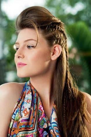 Resultado de imagem para topete trança lateral cabelo curto