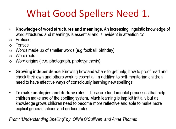 INSET training resource focusing on approaches to teaching SPAG. A good starting point for a discussion of the issues.