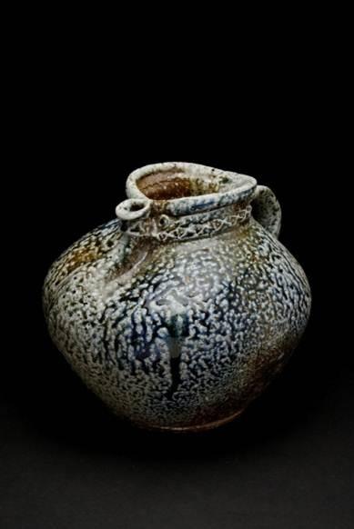 Fabulous fatso jug by Barry Brickell.